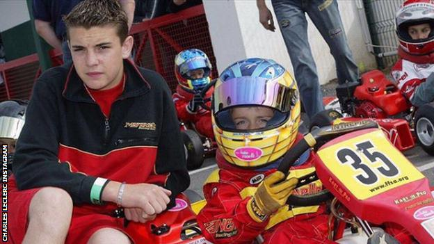 Jules Bianchi and Charles Leclerc as youngsters