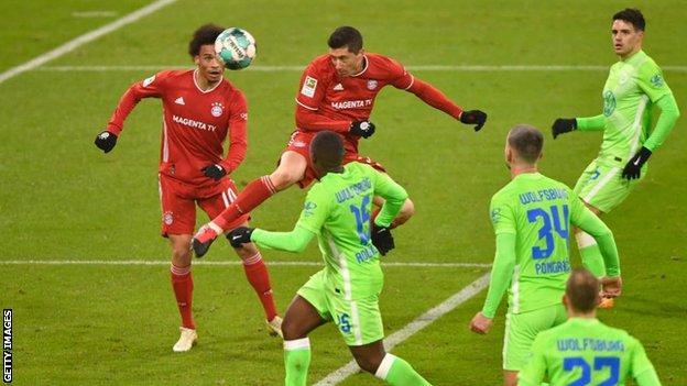 Lewandowski is third player to score 250 Bundesliga goals, after Gerd Muller (365) and Klaus Fischer (268)