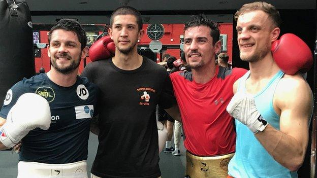 Crolla at his final sparring session