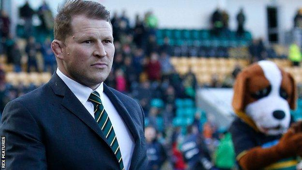 Dylan Hartley was at Franklins Gardens for Northampton's Premiership Cup triumph against Saracens last weekend
