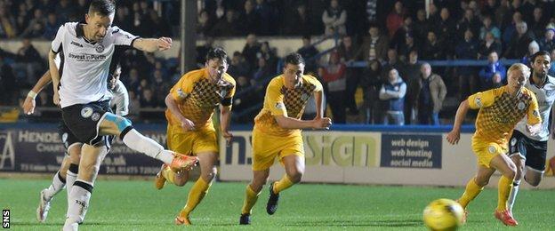 Steven MacLean's driven penalty pulled St Johnstone level