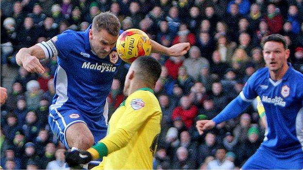 Ben Turner in action for Cardiff City