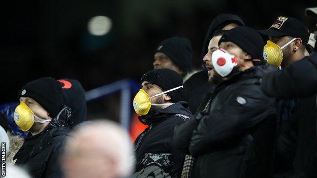 Fans at Leicester v Birmingham