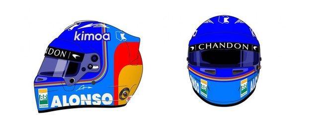Alonso Helmet design