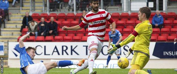 Steven MacLean completes his hat-trick with a good poacher's finish
