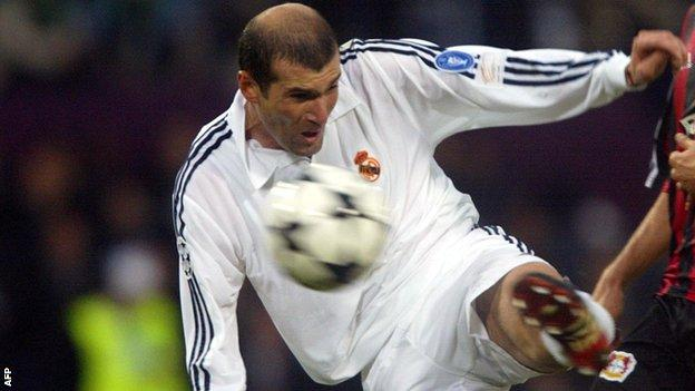Zinedine Zidane's stunning goal was at Glasgow's Hampden Park