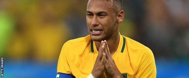 Brazil international football player Neymar