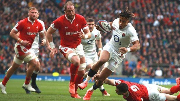 Anthony Watson scores for England