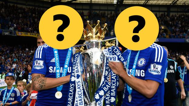 Two Spanish Chelsea players hidden by question marks