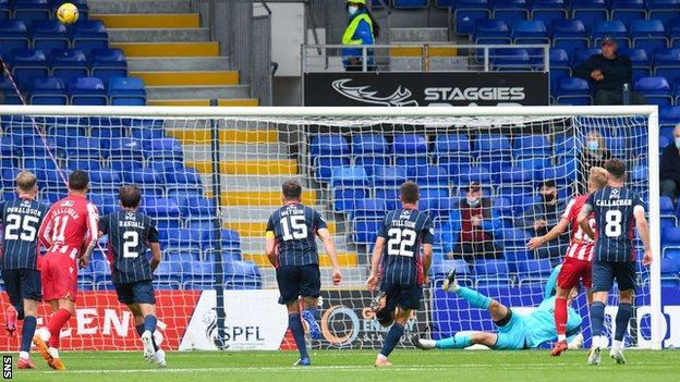 Ali McCann misses a penalty for St Johnstone