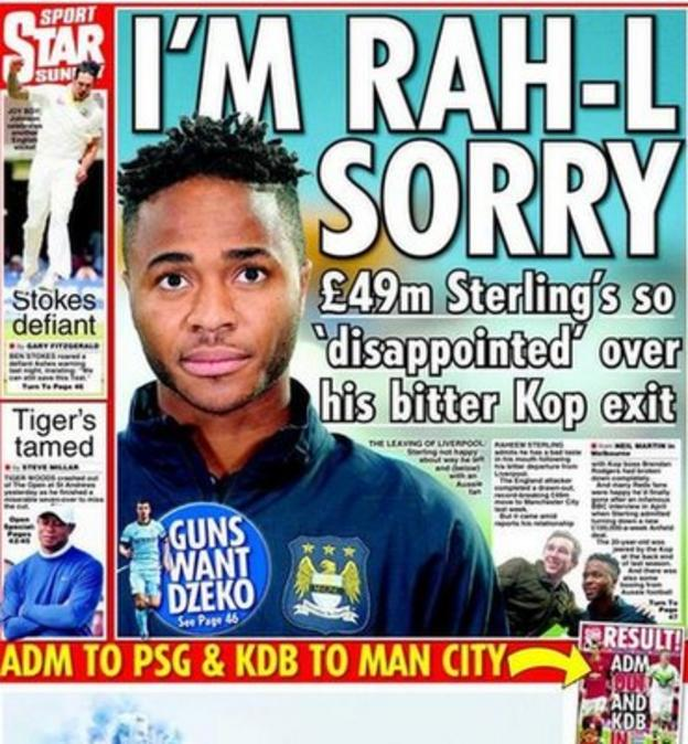 Star on Sunday backpage