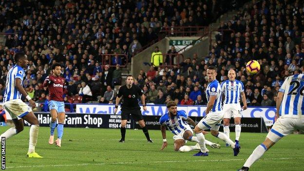Felipe Anderson scores against Huddersfield