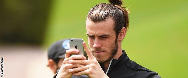Real Madrid forward Gareth Bale was following Sergio Garcia around during the final round