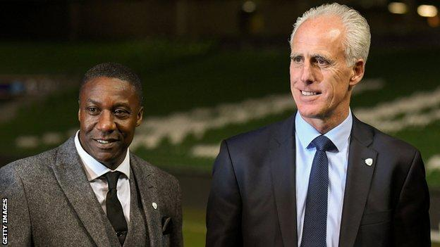 Terry Connor (left) and Mick McCarthy