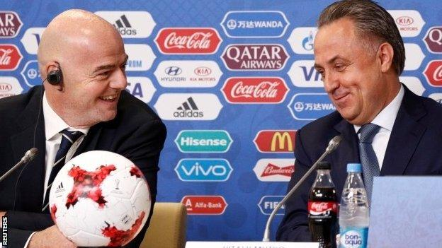 Gianni Infantino and Vitaly Mutko