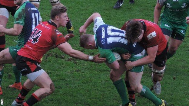 Jersey tackle against Connacht