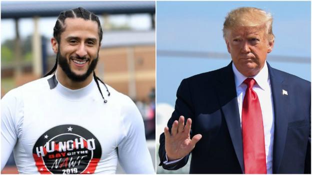 Colin Kaepernick: Donald Trump backs quarterback NFL recall thumbnail