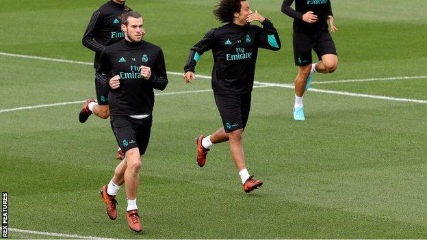 Wales forward Gareth Bale has returned to training with Real Madrid but is not yet match fit