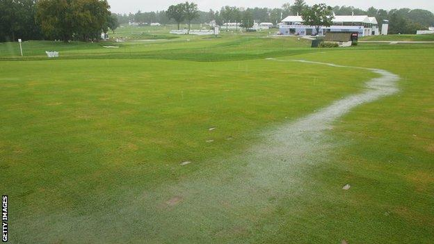 Rain washed out the final day of the BMW Championship