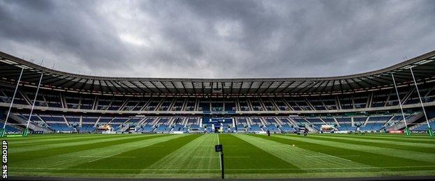 A crowd of near 60,000 is expected at Murrayfield, the home of Scottish rugby