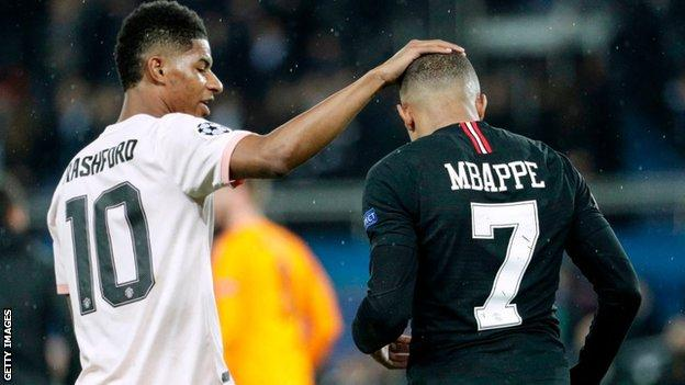 Marcus Rashford and Kylian Mbappe