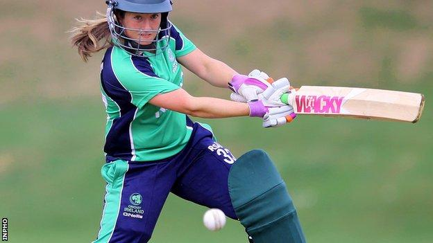Former Ireland captain Isobel Joyce top-scored for the hosts at The Hills