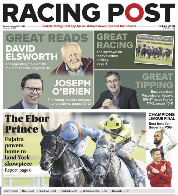 Sunday's Racing Post back page