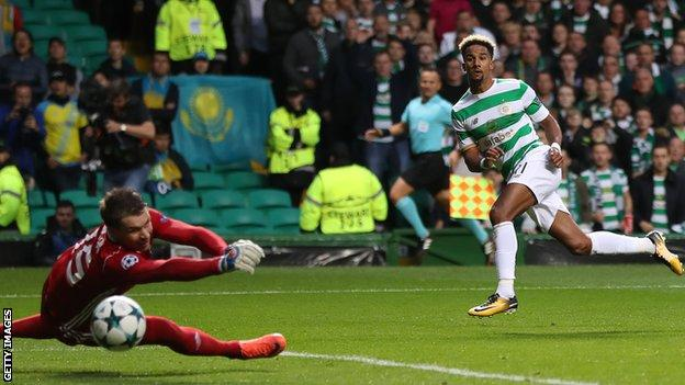 Scott Sinclair scores in the play-off win over Astana