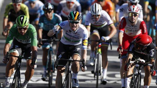 Tour De France 2020 Sam Bennett Claims First Stage Win As Primoz Roglic Retains Lead Bbc Sport