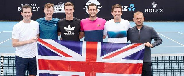 British team at the ATP Cup
