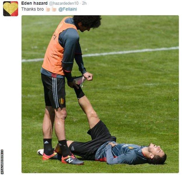 Eden Hazard tweet