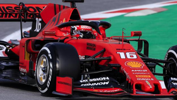 F1 testing: Leclerc fastest for Ferrari in Barcelona thumbnail
