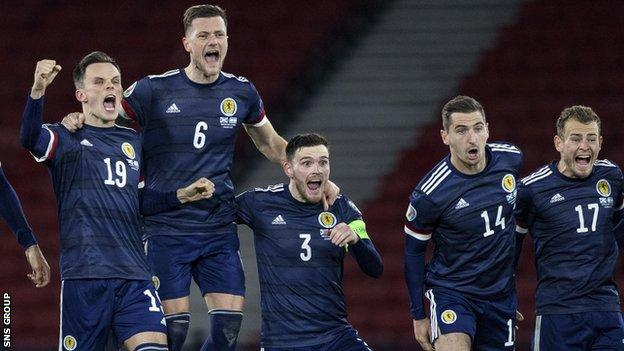 Scotland reached the final after a penalty shoot-out success against Israel at Hampden
