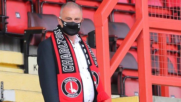 Thomas Sandgaard at a Charlton game