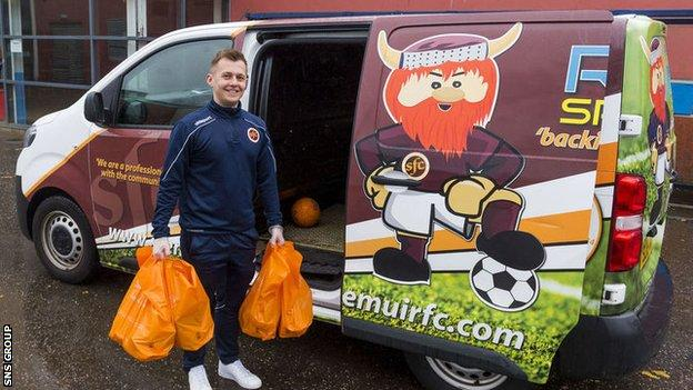 Stenhousemuir have been running a community initiative to help out those in need