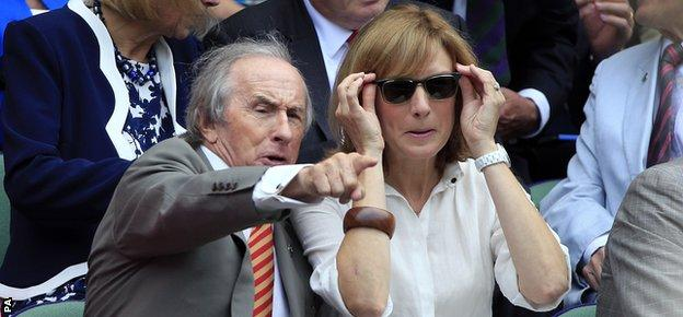 Sir Jackie Stewart and TV presenter Fiona Bruce