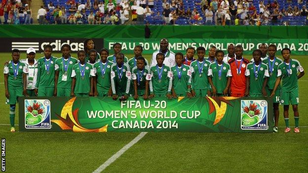 Nigeria were runners-up at the 2014 Under-20 Women's World Cup