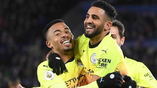 Leicester 0-1 Man City: Gabriel Jesus' late strike earns win at King Power thumbnail