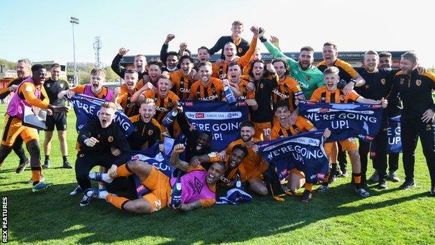 Lincoln City 1 2 Hull City Tigers Promoted Back To Championship Bbc Sport