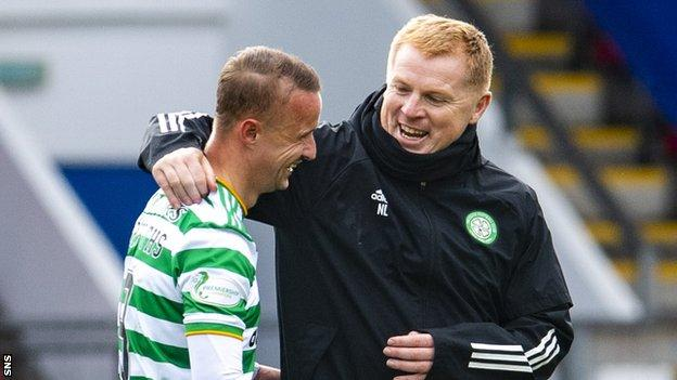 Leigh Griffiths and Neil Lennon
