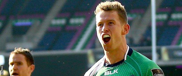 Matt Healy scored the last of Connacht's three tries in the Pro12 final against Leinster