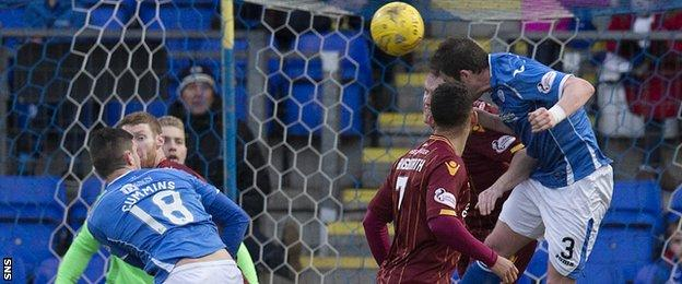 Tam Scobbie heads St Johnstone in front late on