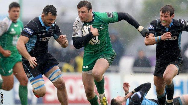 Connacht beat Glasgow 14-7 in Galway on the final day of the regular season