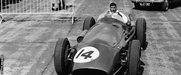 Maria Teresa de Filippis drove a Maserati 250F during the 1958-59 season