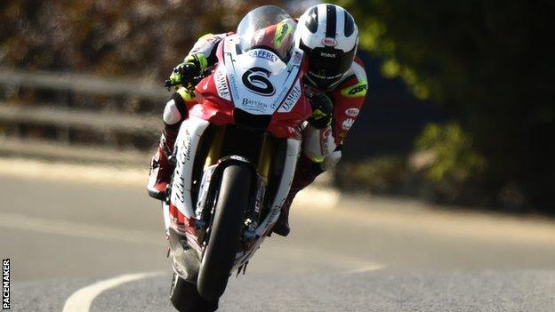 William Dunlop in action aboard Tim Martin's Temple Golf Club-backed Yamaha R1