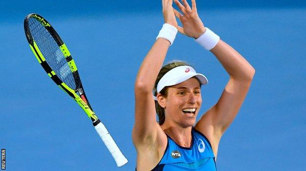 Australian born Brit Johanna Konta is hoping to reach her first Grand Slam final
