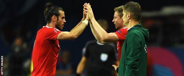Gareth Bale and Simon Church