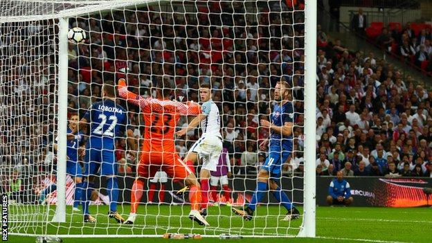 Eric Dier scores for England