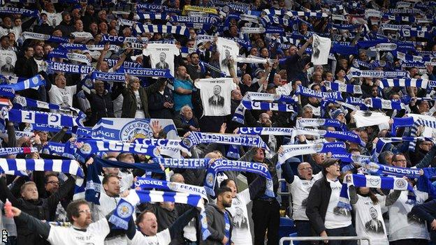 Leicester fans paid tribute to Vichai Srivaddhanaprabha throughout the game