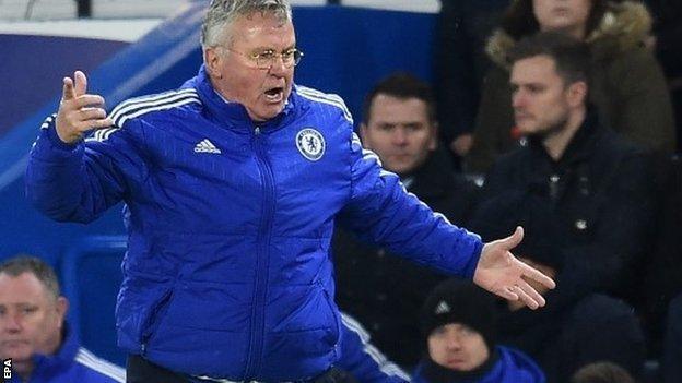 Chelsea boss Guus Hiddink